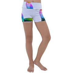 Rainbowfox Kids  Lightweight Velour Yoga Shorts