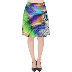 Rainbowcat Velvet High Waist Skirt