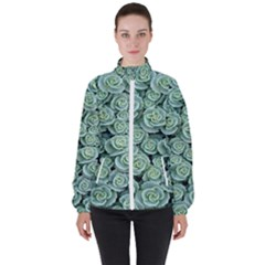 Realflowers Women s High Neck Windbreaker