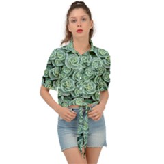 Realflowers Tie Front Shirt