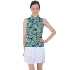 Realflowers Women s Sleeveless Polo Tee