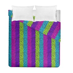 Glitter Strips Duvet Cover Double Side (full/ Double Size) by Sparkle