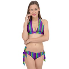 Glitter Strips Tie It Up Bikini Set