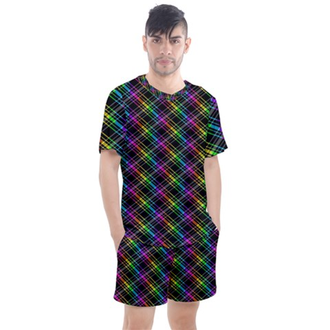 Rainbow Sparks Men s Mesh Tee And Shorts Set by Sparkle