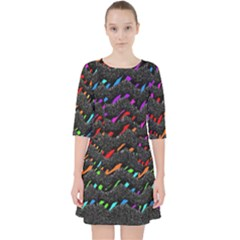 Rainbowwaves Pocket Dress