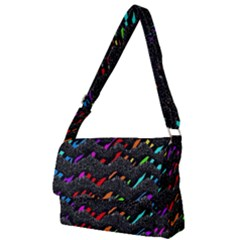 Rainbowwaves Full Print Messenger Bag (l)