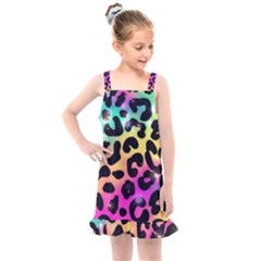 Animal Print Kids  Overall Dress