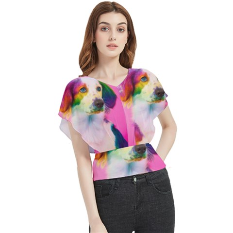 Rainbowdog Butterfly Chiffon Blouse by Sparkle