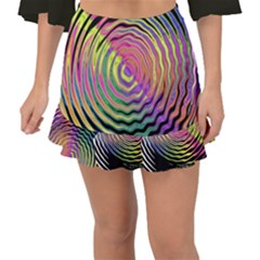 Rainbowwaves Fishtail Mini Chiffon Skirt