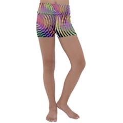 Rainbowwaves Kids  Lightweight Velour Yoga Shorts