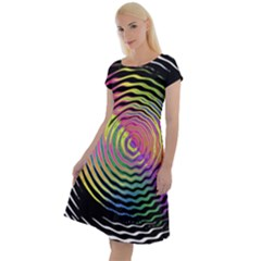 Rainbowwaves Classic Short Sleeve Dress