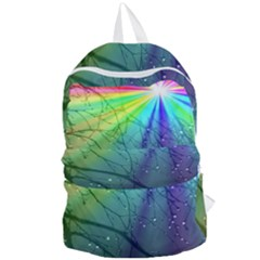 Rainbow Rain Foldable Lightweight Backpack