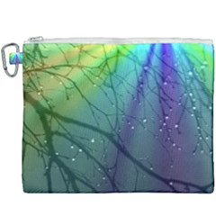Rainbow Rain Canvas Cosmetic Bag (xxxl)