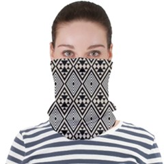 Abstract Boho Style Geometric Face Seamless Bandana (adult)