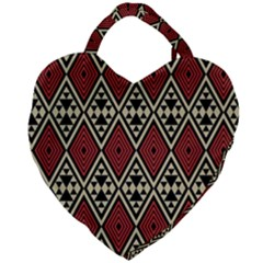 Motif Boho Style Geometric Giant Heart Shaped Tote