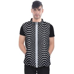 Black And White Geometric Kinetic Pattern Men s Puffer Vest