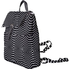Black And White Geometric Kinetic Pattern Buckle Everyday Backpack