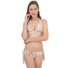 Autumn Abstract Tie It Up Bikini Set