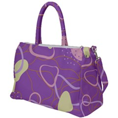 Abstract Purple Pattern Design Duffel Travel Bag