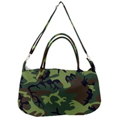 Forest Camo Pattern, Army Themed Design, Soldier Removal Strap Handbag