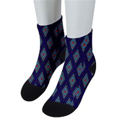 Colorful Diamonds Pattern3 Men s Low Cut Socks