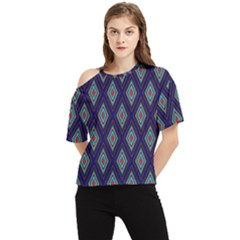 Colorful Diamonds Pattern3 One Shoulder Cut Out Tee