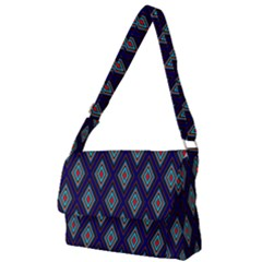 Colorful Diamonds Pattern3 Full Print Messenger Bag (l)