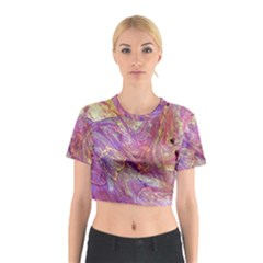 Marbling Abstract Layers Cotton Crop Top