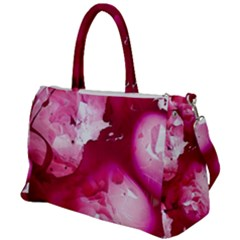 Peonie On Marbling Patterns Duffel Travel Bag by meanmagentaphotography