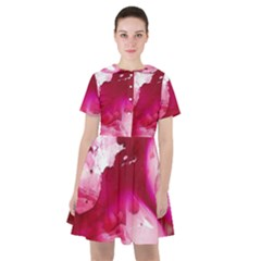 Peonie On Marbling Patterns Sailor Dress