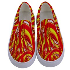 Fire On The Sun Kids  Canvas Slip Ons