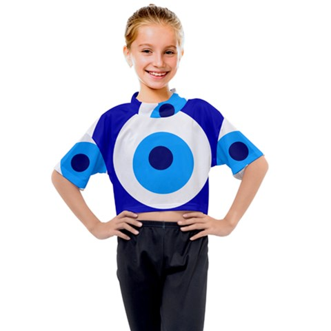 Evil Eye Kids Mock Neck Tee by abbeyz71