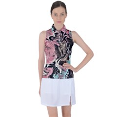 Paola De Giovanni-dragons Fire Iii Women s Sleeveless Polo Tee