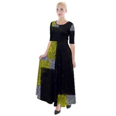 Abstract Tiles Half Sleeves Maxi Dress by essentialimage