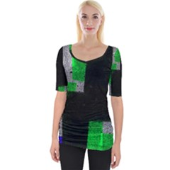 Abstract Tiles Wide Neckline Tee