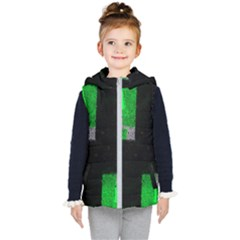 Abstract Tiles Kids  Hooded Puffer Vest