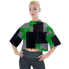Abstract Tiles Mock Neck Tee by essentialimage