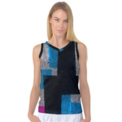 Abstract Tiles Women s Basketball Tank Top