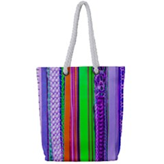 Fashion Belts Full Print Rope Handle Tote (small)