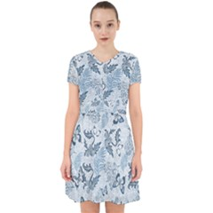 Nature Blue Pattern Adorable In Chiffon Dress
