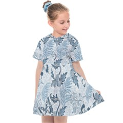 Nature Blue Pattern Kids  Sailor Dress by Abe731