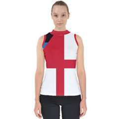 Naval Ensign Of Antigua & Barbuda Mock Neck Shell Top by abbeyz71