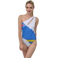 Flag Map Of Aruba To One Side Swimsuit by abbeyz71