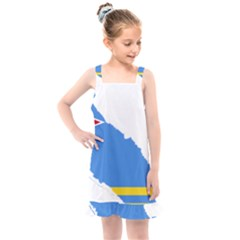 Flag Map Of Aruba Kids  Overall Dress by abbeyz71