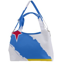 Flag Map Of Aruba Double Compartment Shoulder Bag