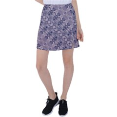 Violet Textured Mosaic Ornate Print Tennis Skirt by dflcprintsclothing