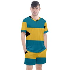 Flag Of The Bahamas Men s Mesh Tee And Shorts Set
