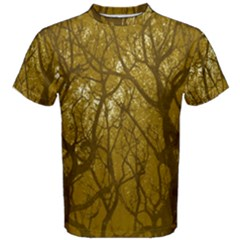 Forest Landscape Illustration 2 Men s Cotton Tee by dflcprintsclothing