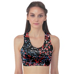 Multicolored Bubbles Motif Abstract Pattern Sports Bra by dflcprintsclothing