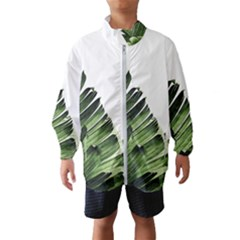Green Banana Leaves Kids  Windbreaker by goljakoff
